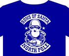 T shirt up to 5XL Christmas Biker Sons of Santa anarchy toy run  gifts