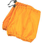 Sokaido: Hoodie boots, shoes, protector cover: Orange, Synthetic fabric K-522