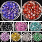 Wholesale Czech Glass Charms Round Crackle Spacer Beads DIY Jewelry Making 10mm