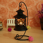 Stylish Black/White Metal Lantern Candle holder Stand Christmas Table Lights
