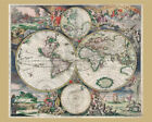 6742.Vintage Ancient World Map POSTER.Home room Decor.Graphic house art design