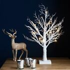 Small Prelit Christmas Twig Tree Led Indoor & Outdoor Rustic Snowy Decoration