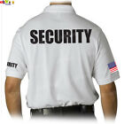 NW MEN PRINTED SECURITY PARTY POLICE STAFF UNIFORM FUNNY MMA COLLAR POLO T-SHIRT