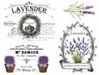 Choice French Provence Lavender Furniture Transfers Waterslide Decals MIS595