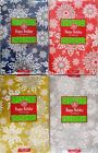 Christmas Snowflakes Vinyl Flannel Back Tablecloth Various Colors and Sizes