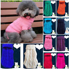 Pet Dog Cat Knitted Jumper Winter Warm Sweater Thicke Jacket Coat Puppy Clothes