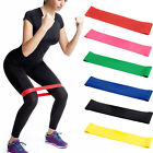 Elastic Resistance Loop Bands for Exercise Yoga Pilates Workout Fitness Colors