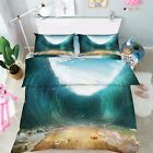 3D High Waves 06 Bed Pillowcases Quilt Duvet Cover Set Single Queen King Size AU