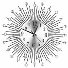 Personalized Large Wall Clock Metal Sunburst Diamante Crystal Mute Wall Clock ZN