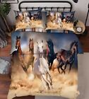 3D Running Horse Bed Pillowcases Quilt Duvet Cover Set Single Queen King Size AU