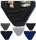 3 6 12 Pack Mens Classic Sports Ribbed Slips Briefs Pants Soft Cotton Underwear