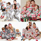 Christmas Family Matching Pajamas Set Nightwear Pyjamas Cotton Sleepwear Clothes $15.99 USD