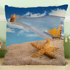 18'' Beauty Beach Cotton Linen Pillow case Throw Cushion Pillow Cover Home Decor