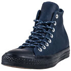 Converse Chuck Taylor All Star Thermal Mens Blue Leather Casual Trainers Lace-up