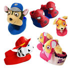 Paw Patrol Slippers Spiderman 3D Plush Kids Soft Non Slip Shoes Bedtime Toddlers