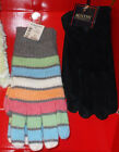 Womens Hat & Gloves Stripes or Solid AERO Austin Clothing Co. Pig Suede JC Penny