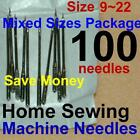 100 Home Sewing Machine Thread Needles Size 9 11 12 14 16 18 20 Kits for Singer