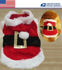 Christmas Gifts Red Clothing Dog Puppy Costumes Santa Pet Clothes Warm Coats