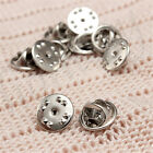 20/50/100pcs Silver Metal Badges Hat Tac Lapel Pin Back Butterfly Squeeze Clasp