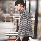 Fashion Men's Boy Jacket Warm Winter Slim Coat Overcoat Outwear Cloth Black Cool