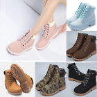 Women's Waterproof Snow Boots Winter Thicken Warm Lace Up Outdoor Leather Boot