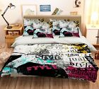 3D Stylish Girl Bed Pillowcases Quilt Duvet Cover Set Single Queen King Size AU