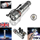 20000LM Portable Tactical Flashlight Torch Military T6 LED Chargeable Zoomable