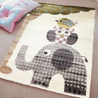 CHILDREN LARGE OWL ON ELEPHANT RUGS BEDROOM PLAYROOM KIDS PLAY SOFT CARPETS MATS