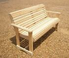 Внешний вид - Garden Bench Outdoor Wooden Bench Cypress Unfinished Made In USA Choose a size