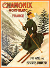 7706.Vintage design POSTER.Home room office wall decor.Early French Ski suit.art
