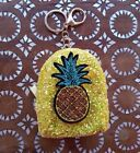 Cute Small Glittery Pineapple Keyring Purse, Sparkly Mini Coin Purse