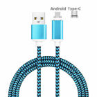 US 1/2/3M USB-C Type C/Micro USB Magnetic Charger Cable For Samsung Note 8 S8 S7