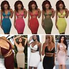 women club outfits - Women Backless Crop Top 2Pcs Set Bodycon Bandage Dress Party Club Outfits K0S1