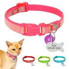 Sequins Break Away Cat Collar With Bell free Engraved Person