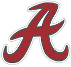 University of Alabama Crimson Tide A NCAA Color Die Cut Vinyl Decal Sticker