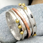 Two Tone Spinner 925 Sterling Silver Ring Jewelry DGR1031