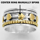 Two Tone Spinner 925 Sterling Silver Ring Jewelry DGR1069