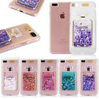 LED Flashing Liquid Quicksand Glitter Bling Case For Apple iPhone 5 6 6S 6+ 7 7+