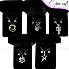 Ladies Gift Set Necklace Earrings Boxed Diamante Crystal Gift Boxed Silver Gold❤