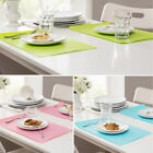 Heat Resistant Placemats Table Mats 44x28.5cm Silicone Western Non Slip Western