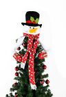 Snowman Christmas Tree Topper Fairy Fleece Christmas Eve Party Decoration