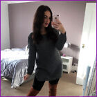 New Mini Dress Long Jumper Knitted Lace up Sleeve Top Womens Ladies Size UK ❤