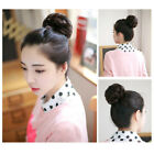 Short Curly human Hair Extension Buns Clip In Elastic Ponytail
