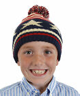 Boys Stars & Stripes Knitted Bobble Hat 4-10 Years Available