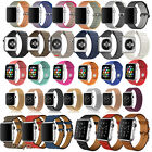 Nylon/Silicone/Magnetic Leather Loop Band Strap For Apple Watch Series 3/2/1