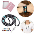 Buddha Prayer Beads Black Agate Openable Locket Pendant Bracelet Necklace Xmas