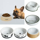 Pet Dog Cat Feeder Food Water Bowl Feeding Food Dispenser Ceramics Round Type
