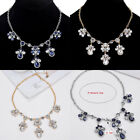 Women Jewelry Crystal Rhinestone Pendant Collar Choker Chunky Chain Bib Necklace