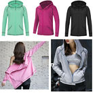 Womens Fitness Athletic Workout Sport Jacket Zip Yoga GYM Hoodie Jumpsuit Cloth