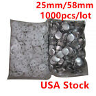 USA!  1000pcs 58mm /25mm Blank Pin Badge Button Supplies for Badge Maker Machine